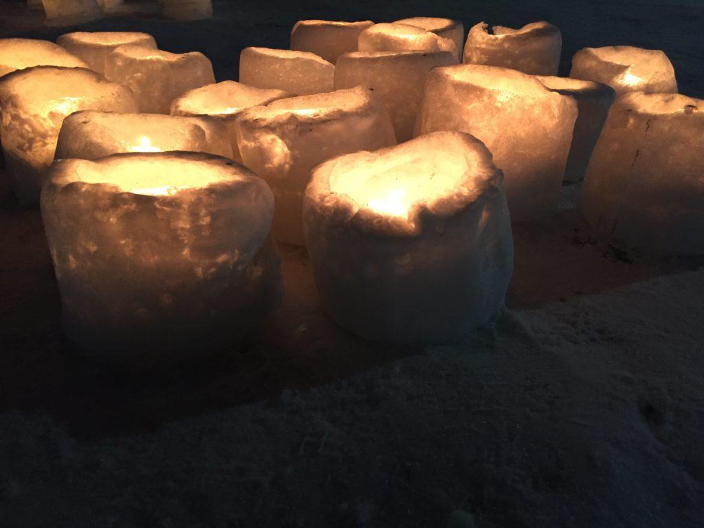 ice lanterns nakajima koen sapporo snow festival