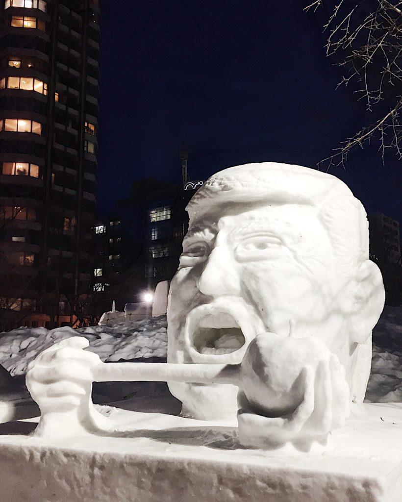 donald trum sapporo snow festival hokkaido japan