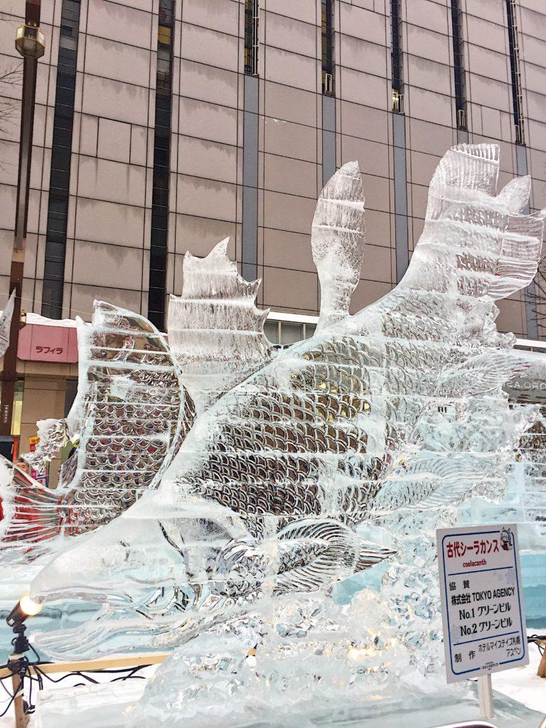 sapporo hokkaido snow festival ice sculpture susukino